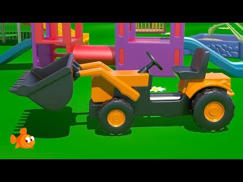 big-trucks!---loader!---3d-construction-cartoons-for-kids---learn-to-count-[건설,-자동차,-트랙터,-시멘트-트럭]