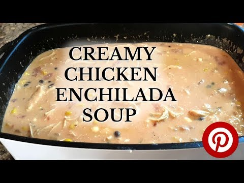 Slow Oven Chicken Enchilada Soup