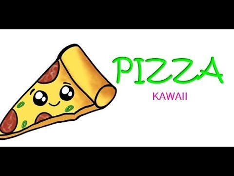 How To Draw Pizza Slice Kawaii Cute Easy