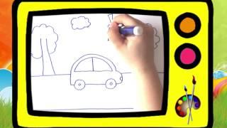 Как нарисовать машинку. Оживающие рисунки / How to draw a car. Наше всё!(Как очень просто нарисовать машинку? Справятся даже малыши! Плейлист