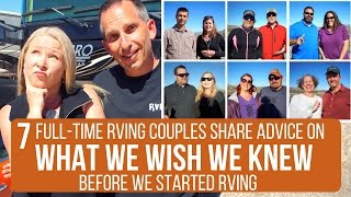 What We Wish We Knew Before We Started RVing | Advice from 7 Full-Time RVing Couples | Quartzsite