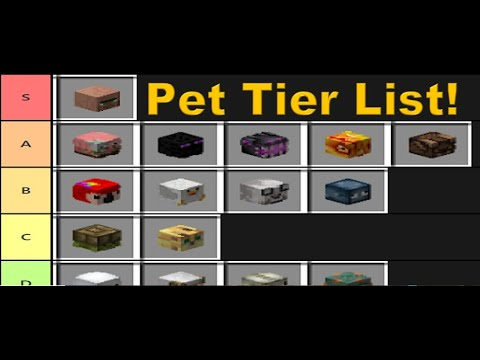 Hypixel Skyblock Ranking All New Released Pets Youtube