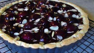Chocolate Cherry Almond Tart - Gluten Free Recipe