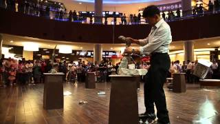 Performance of Rocky Byun Balance Artist here in Dubai at the Dubai Mall!!
