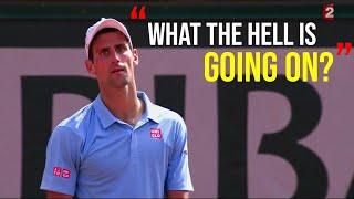 Rafael Nadal - Top 10 Reactions of Djokovic when he can't handle Rafa's Game