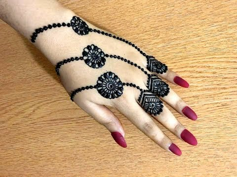How To Apply Beautiful Trendy Simple Easy Henna Mehndi Design For