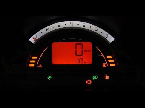 Como mudar de Mp/h para Km/h no painel do C3.