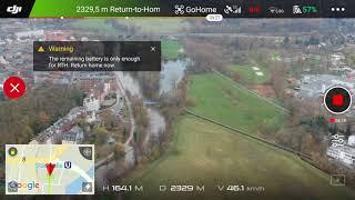 DJI Spark - My First Distance Test Flight in FCC Mode + RC Antenna Mod