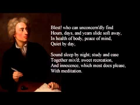 Alexander Pope  Ode on Solitude  poem with text