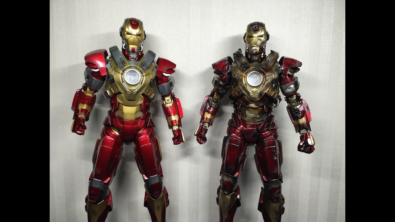 High Quality Mark 17 Heartbreaker Hot Toys Iron Man 3 Custom Battle Damaged
