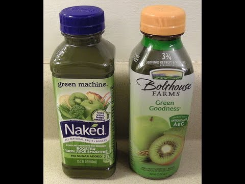 Naked Green Machine vs Bolthouse Farms Green Goodness