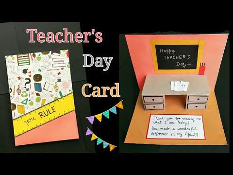 Teacher's Day Card/ #Teacher'sdaycard Teacher's Day Card Making Idea/PopUp Greeting Card for Teacher