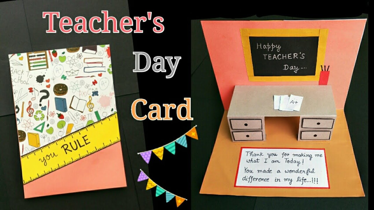 Teachers Day Card Teachersdaycard Making Idea PopUp Greeting For Teacher