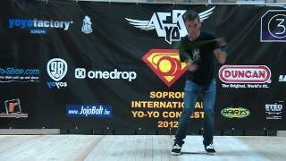 IV. Sopron International Yo-Yo Contest 2012 1A Semi-Pro 2th Place: Horváth Áron