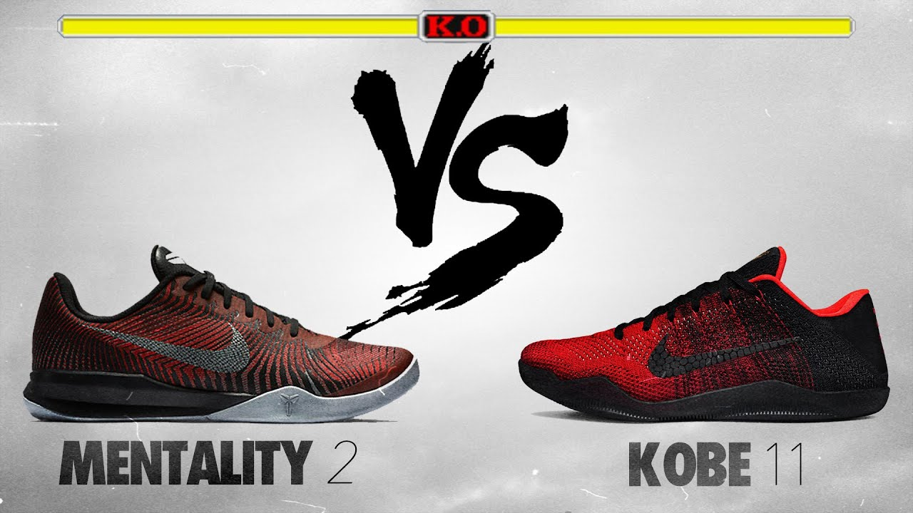 super popular 19278 a29fb Nike Kobe Mentality 2 vs Nike Kobe 11!
