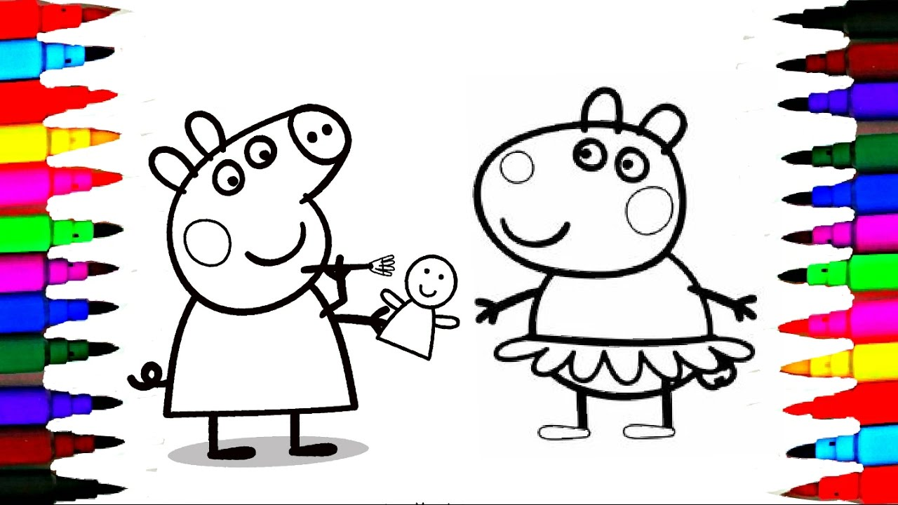 Peppa pig Coloring Book Pages l