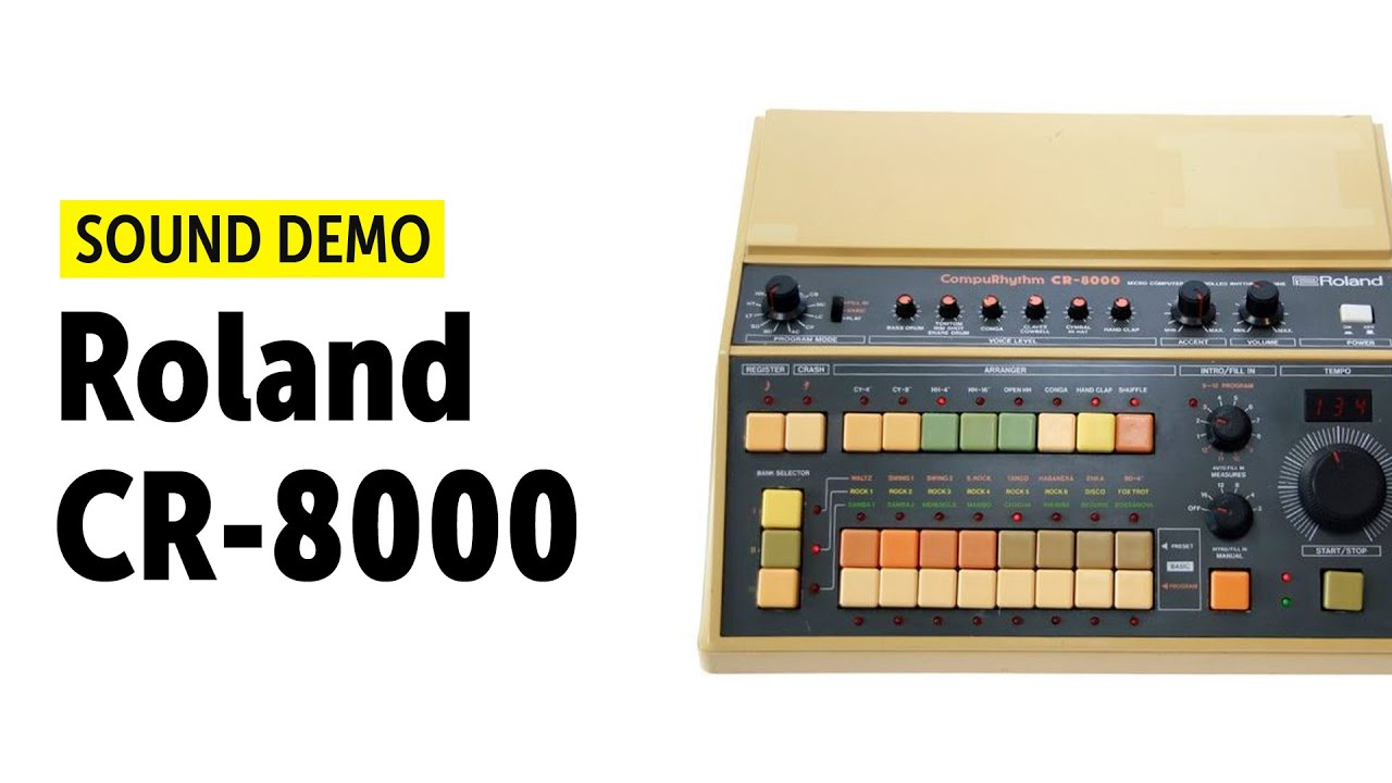 roland cr 8000 drum machine sound demo youtube. Black Bedroom Furniture Sets. Home Design Ideas