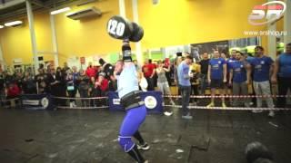 Ivan Shatovkin. Giant Dumbbell 120kg for 5 reps (bodyweight 102kg)