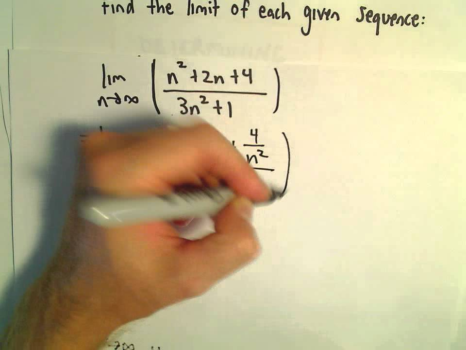 Finding the Limit of a Sequence, 3 more examples