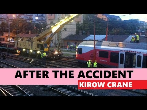 Rail accident recovery by 150 tons Kirow crane [Time lapse] Budapest Déli, Hungary