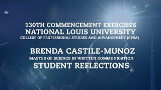 Repeat youtube video Brenda Castile-Munoz - M.S. in Written Communication | Student Reflections | CPSA