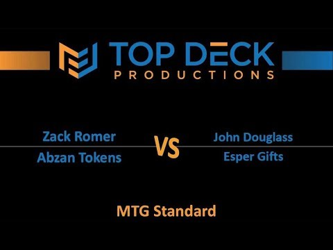 Standard Showdown w/ Comm 10/25/17: Zack Romer (Abzan Tokens) vs. John Douglass (Esper Gifts)
