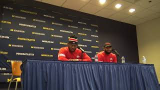 Tyquan Lewis and Chris Worley -- Saturday, Nov  25, 2017 -- Postgame Michigan