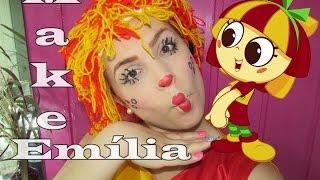 Maquiagem da Emília do Sítio do Pica Pau Amarelo