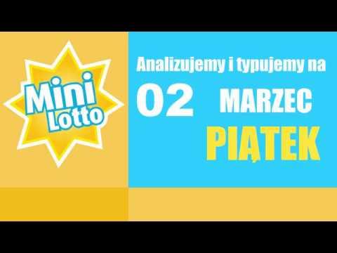 Mini Lotto - Statystyka Oraz Typowanie Na DZISIAJ, 02 Marca - PIĄTEK
