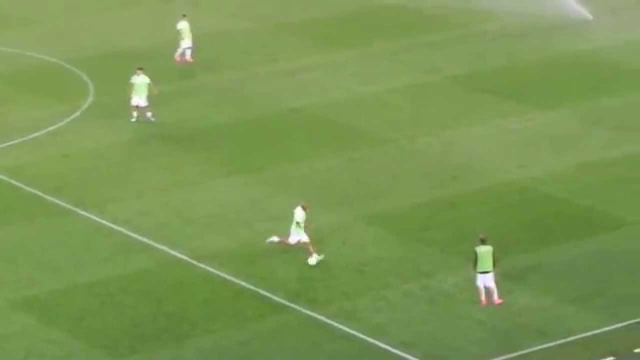 Juan Gamper 2015 FC Barcelona-Roma 3-0 Riscaldamento Maicon