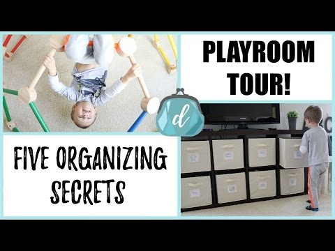 PLAYROOM TOUR! | Five Organizing Secrets for Toys