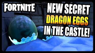 SECRET DRAGON EGGS UNDER THE CASTLE IN POLAR PEAK! (Fortnite Season 7)