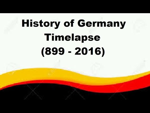History of Germany - Timelapse (899 - 2016)