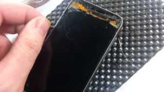 Сенсор HTC One V T320 тачскрин замена. Как отделить дисплей от сенсора? Ремонт телефонов HTC(Ссылка на товар: ..., 2014-08-16T18:57:36.000Z)
