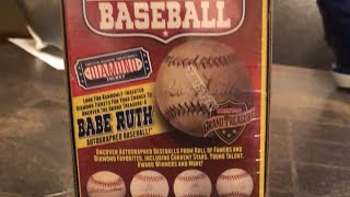 Autographed baseball break
