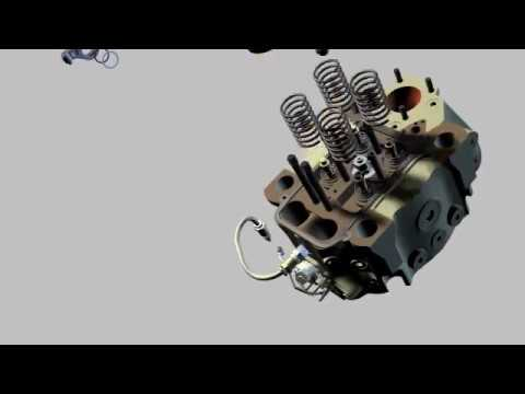 Pielstick Deisel Engine Cylinder Head Breakdown