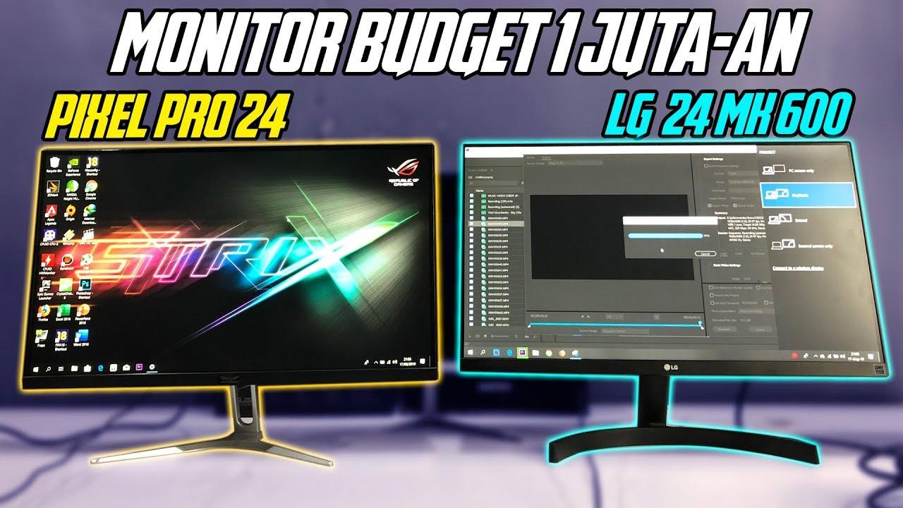 Rekomendasi Monitor Gaming 100 Srgb Di Bawah 2 Juta Armaggeddon Pixxel Pro Pf24hd Vs Lg 24 Mk600 Youtube