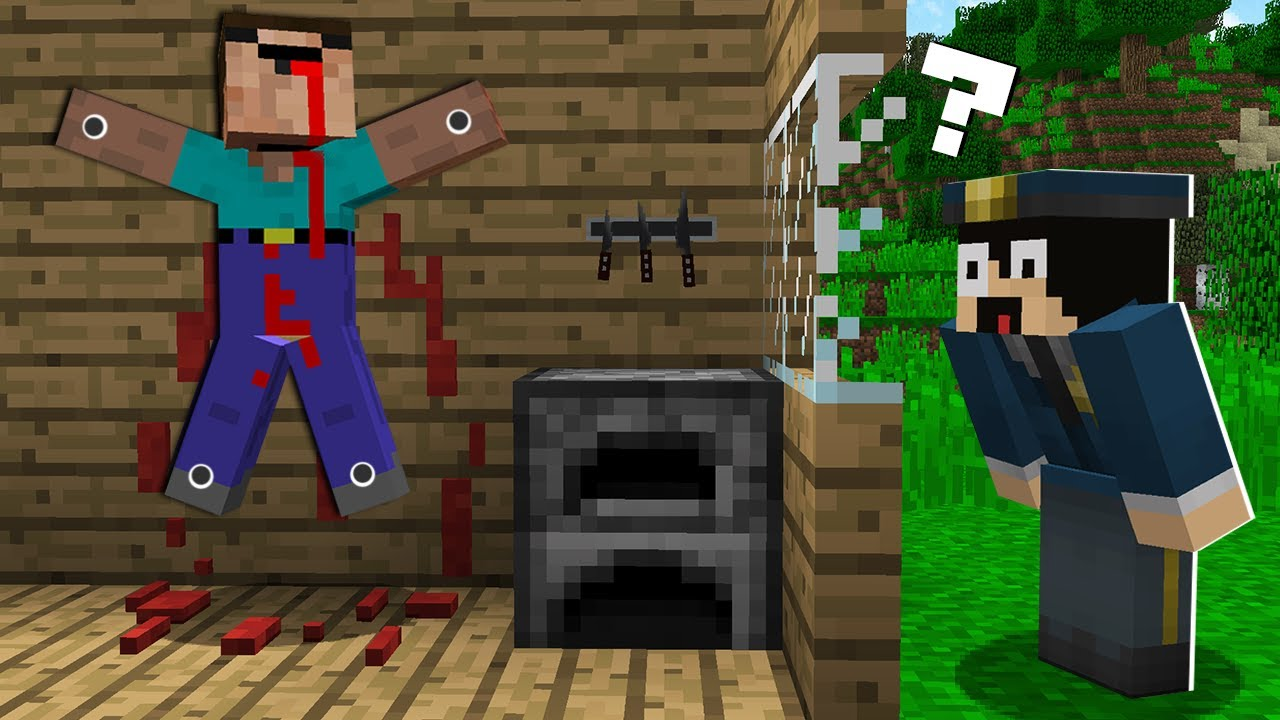 WHAT DID the DETECTIVE SEE IN THE SCARY ROOM? Investigation In Minecraft! Noob vs Pro