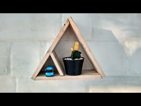 DIY Wood Triangular Plant Stand - Recycle Wood Part 2