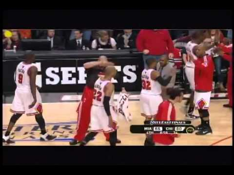 Ronnie Brewer Dunks on Chris Bosh -- Heat vs. Bulls