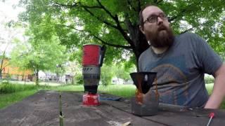 Backpacking coffee perfected, MSR Windburner, GSI Ultralight Java Drip.
