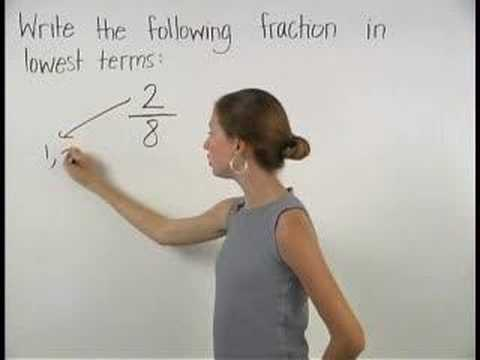 Reducing Fractions to Lowest Terms - MathHelp.com