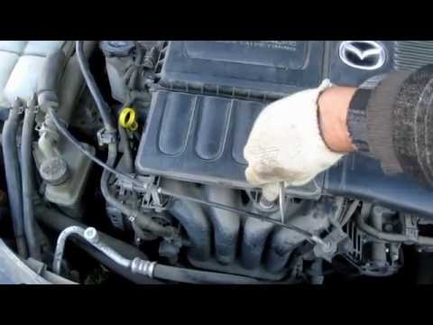 Spark plugs replacement Mazda 3 Замена свечей зажигания на Mazda 3