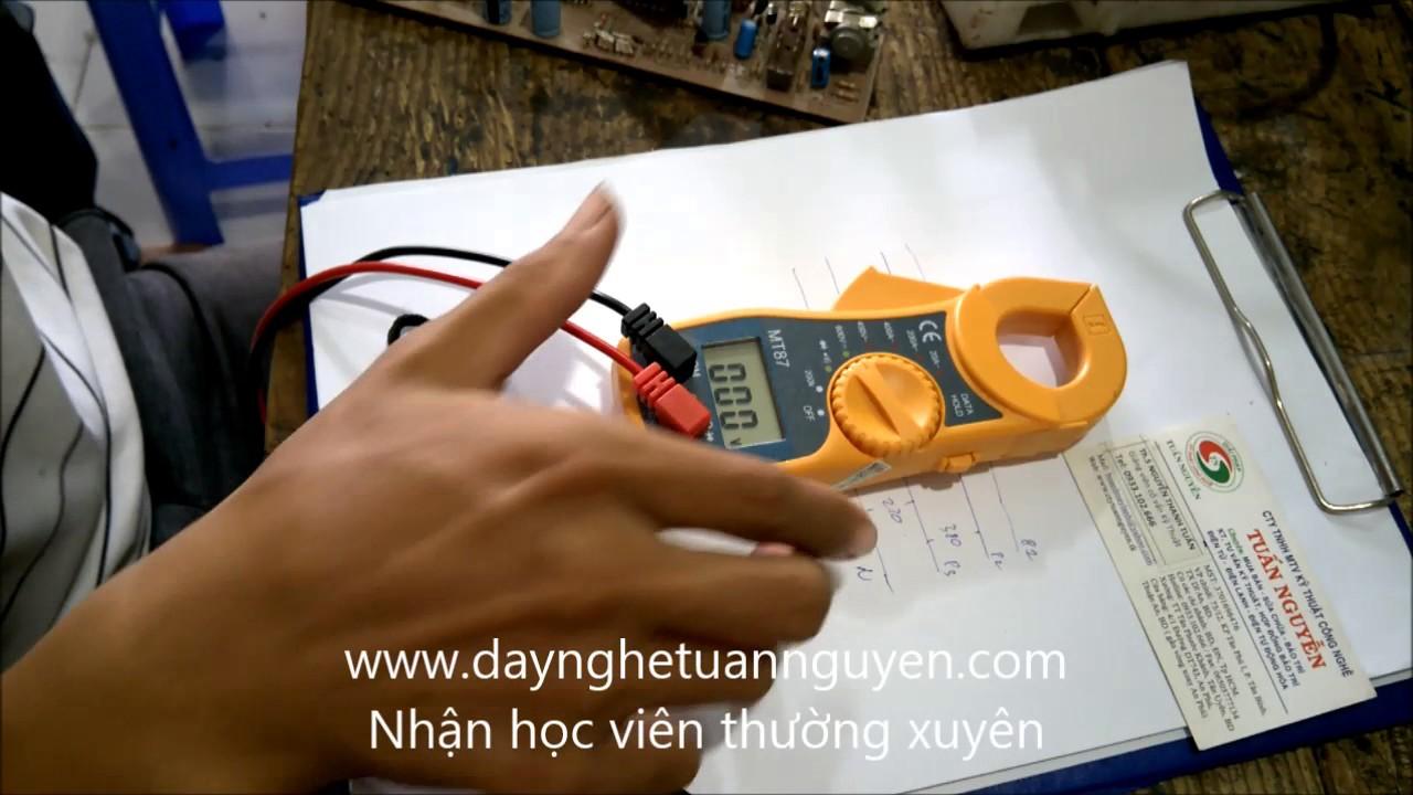 Hướng dẫn sử dụng đồng hồ ampe kẹp- dạy nghề tuấn nguyễn 0933102666