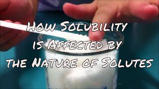 How Solubility is Affected by the Nature of Solutes thumbnail