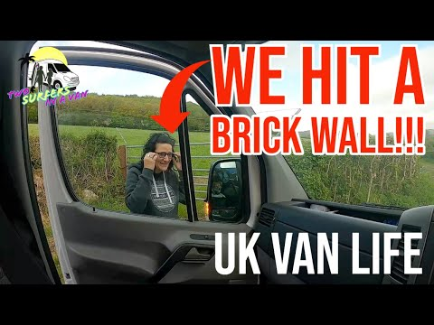 We Finally Hit The Road! Then We Hit a Brick Wall!! Cheddar Adventures | UK Van Life |