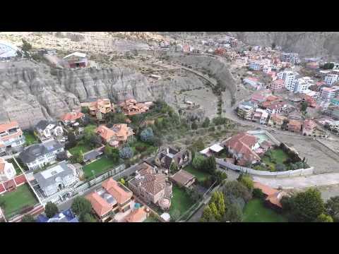 La Paz Bolivia / Zona Sur / Los pinos, Cotacota, Costanera, Calacoto / Drone flight DJI Phantom 3