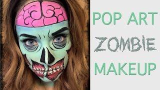 Pop Art Zombie MakeUp at Volume Hair Studio, Philadelphia