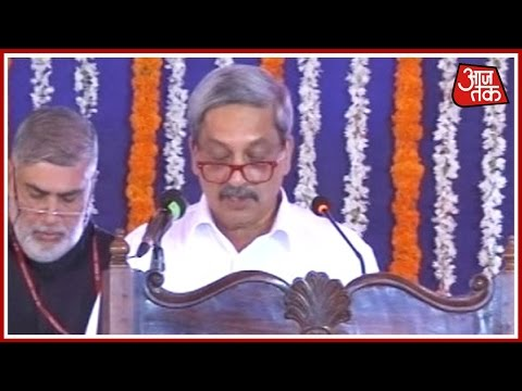 Manohar Parrikar Sworn In As Goa's CM In Presence Of Govornor Part 1