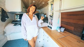 Solo Female Vanlife - She Travels Full Time In Her Custom DIY Camper Van
